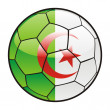 Flag of Algeria on soccer ball — Stock Vector