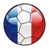 Flag of France on soccer ball — Stock Vector