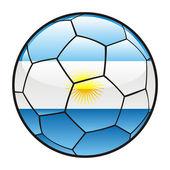 Flagga argentina på fotboll — Stockvektor