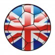 Great Britain flag on soccer ball — Stock Vector