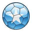 Somalia  flag on soccer ball — Stock Vector