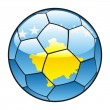 Kosovo flag on soccer ball - Stock Vector