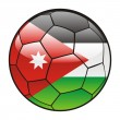 Jordan flag on soccer ball — Stock Vector