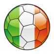 Stock Vector: Ireland flag on soccer ball