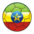 Ethiopia flag on soccer ball - Stock Vector