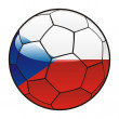 Czech flag on soccer ball — Stock Vector