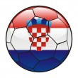 Croatia flag on soccer ball - Stock Vector