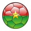 Burkina Faso flag on soccer ball — Stock Vector