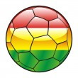 Bolivia flag on soccer ball — Stock Vector