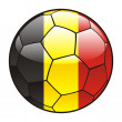 Belgium flag on soccer ball — Stock Vector #3506055