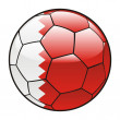 Bahrain flag on soccer ball — Stock Vector
