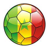 Senegal flag on soccer ball — Stock Vector