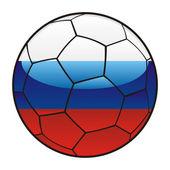 Russia flag on soccer ball — Stock Vector