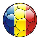 Flaga Rumunii piłka — Wektor stockowy