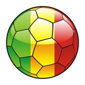Futbol topu mali bayrağı — Stok Vektör