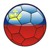Liechtenstein flag on soccer ball — Stock Vector