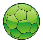 サッカー ボールにリビアの国旗 — ストックベクタ