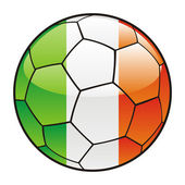 Ireland flag on soccer ball — Stock Vector