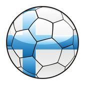 Eritrea flag on soccer ball — Stock Vector