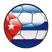 Kuba flagga på fotboll — Stockvektor
