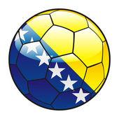 Bosnia and Herzegovina flag on soccer ball — Stock Vector