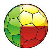 Benim flag on soccer ball — Stock Vector