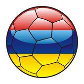 Armenië vlag op voetbal — Stockvector