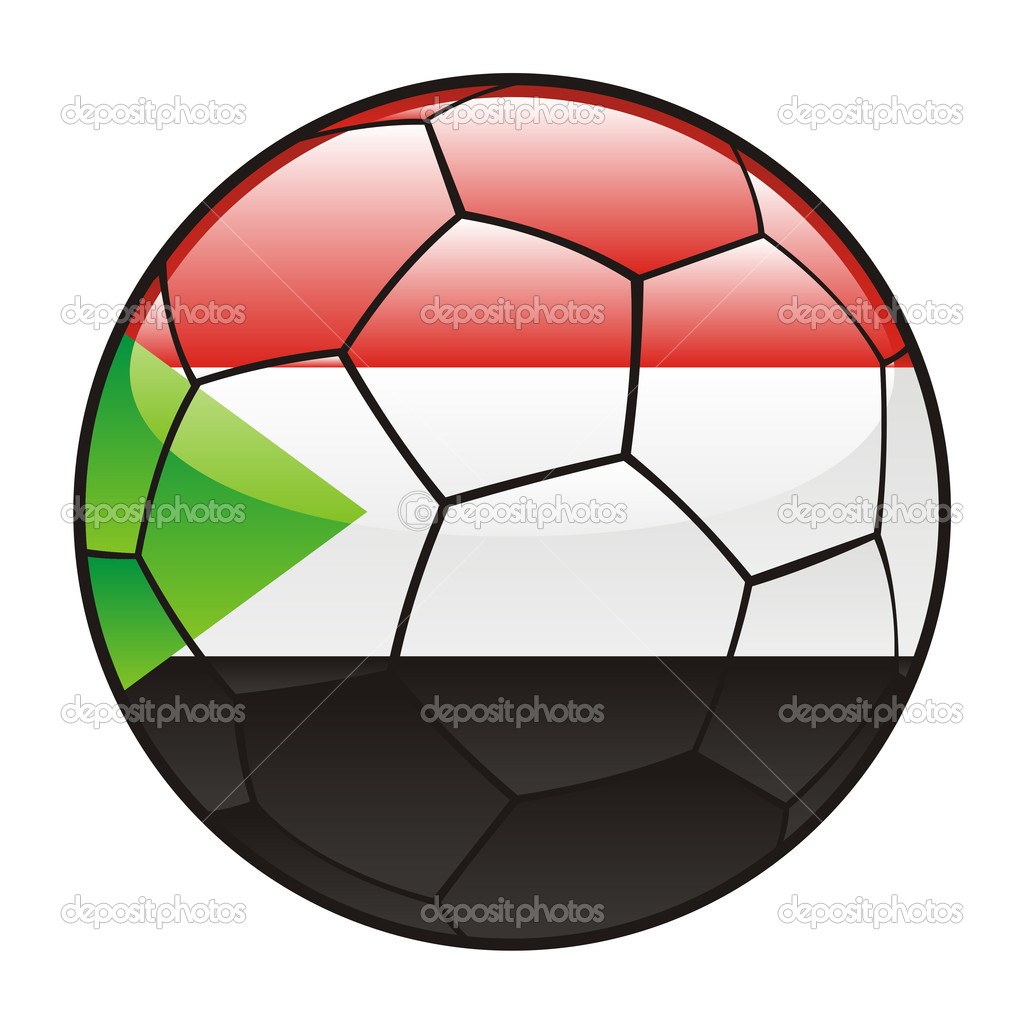 Vector illustration of Sudan flag on soccer ball  Stock Vector #3505660