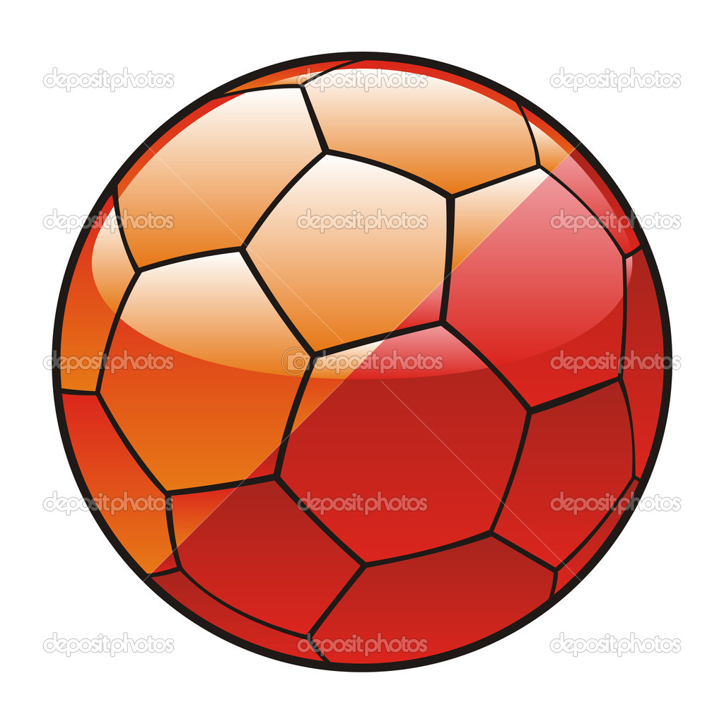 Vector illustration of Buthan flag on soccer ball — Stock Vector #3506024