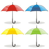 Isolated colored umbrellas — Stock Vector