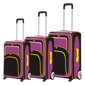 Illustration of isolated luggages — Stock Vector