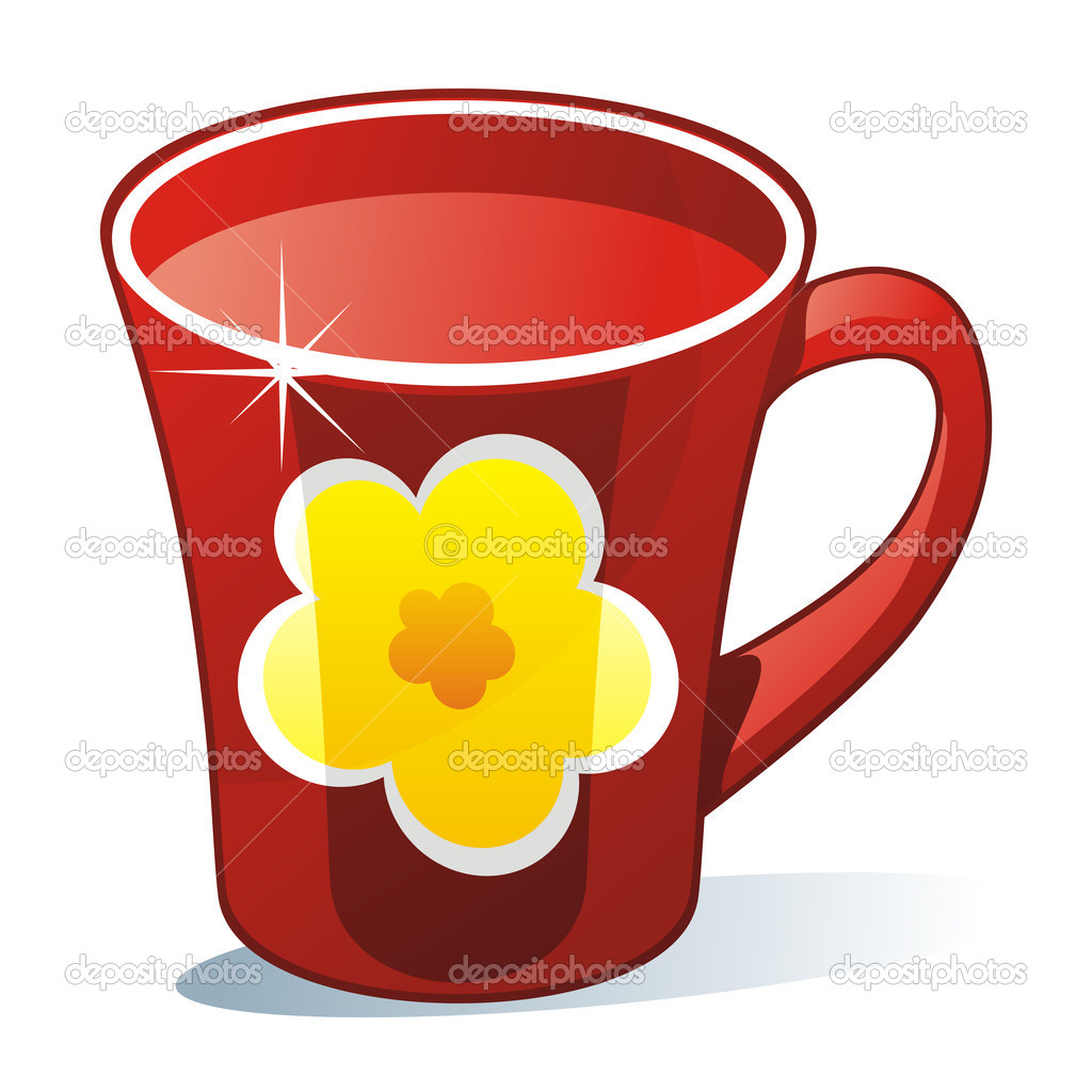 Fully editable vector illustration of isolated colored mug — Stock Vector #3661096