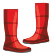 Illustration of isolated rubber boots - Stock Vector