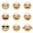 Fully editable vector illustration emoticons — Stock Vector