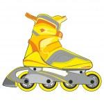 Isolated roller skates — Stock Vector