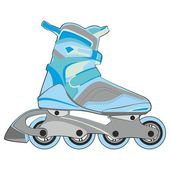Isolated roller skates — Stock Vector
