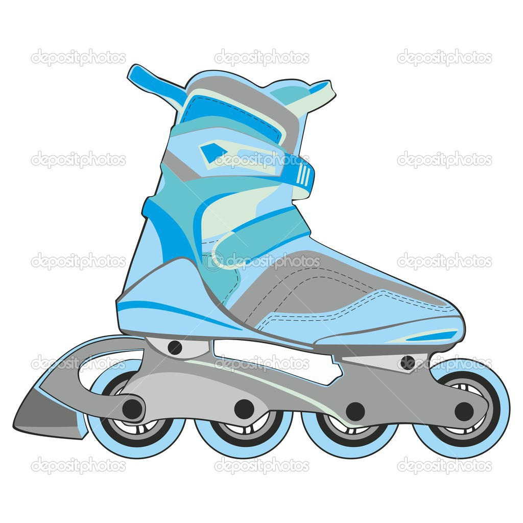 Fully editable vector illustration of isolated roller skates — Stock Vector #3831324