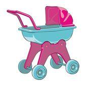 赤ちゃん車 — ストックベクタ