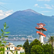 Vesuvius with cableway — Stock Photo