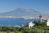 Vesuvius with cableway — Stock Photo