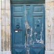 Old blue wooden door — Stock Photo #3025999