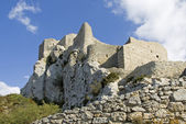 Chateau de queribus — Stock Photo