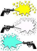 Armas de publicidad — Vector de stock