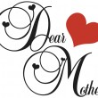 Vector de stock : Dear Mother
