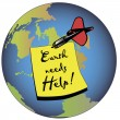 Stock Vector: Earth needs help