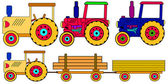 Colorful tractors — Stock Vector