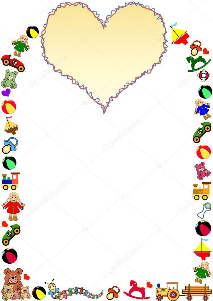 玩具边框 — 图库矢量图像08