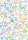 Pastell colored flowers background — Stock Vector
