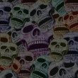Skulls background — Stockfoto