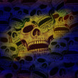 Skulls background — Stock Photo